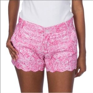 Lauren James Ruffle Some Feathers Scalloped Shorts